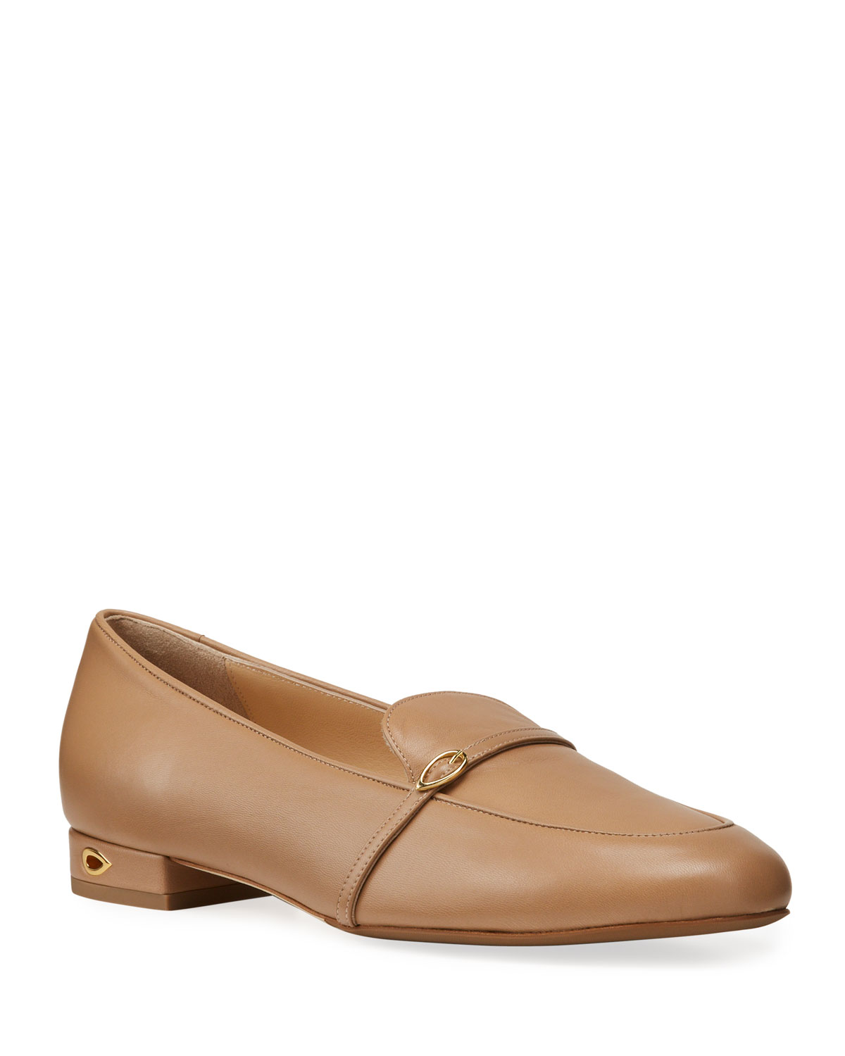 Fabrizio Leather Buckle Slip-On Loafers