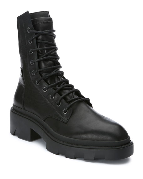Ash Madness Mid Leather Combat Booties