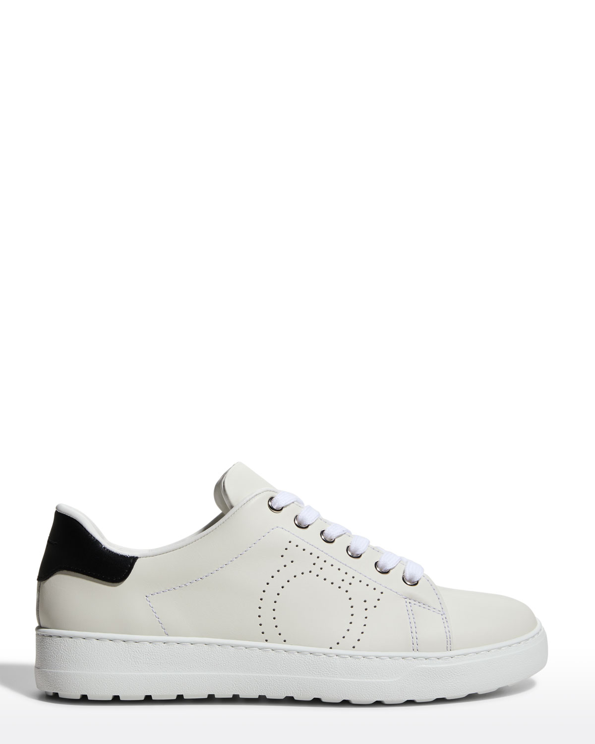 Pierre Perforated Gancio Court Sneakers