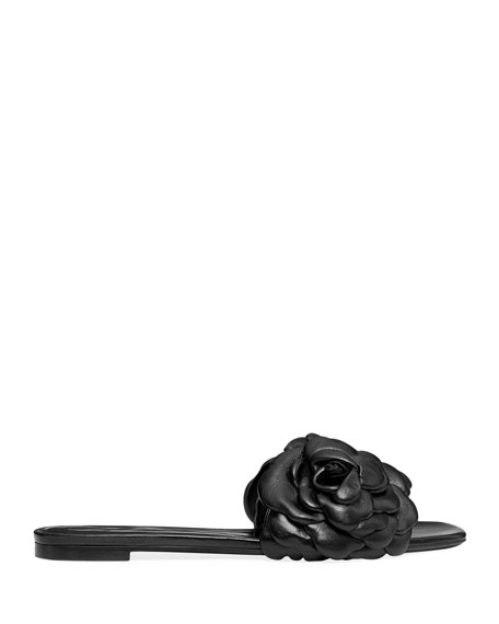 Valentino Garavani Atelier Rose Flat Slide Sandals