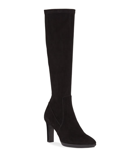 Aquatalia Rhumba II Stretch Suede Knee Boots