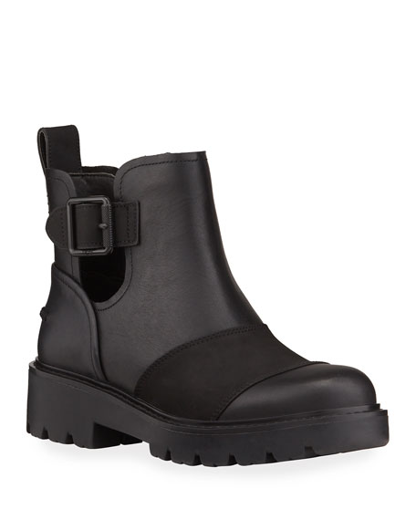 UGG Stockton Leather Cutout Ankle Boots