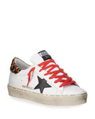 Golden Goose Hi Star Leather Skater Sneakers