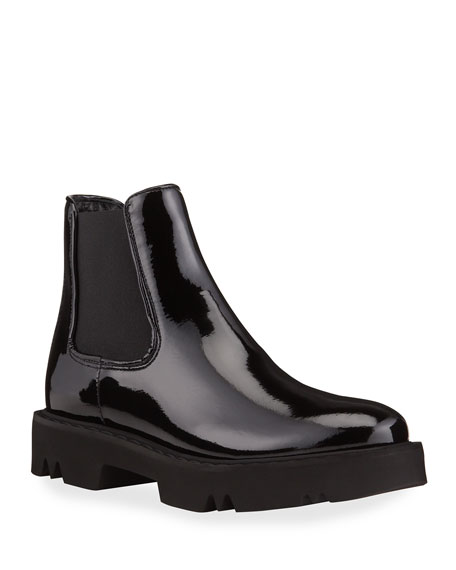 Aquatalia Haylie Patent Leather Ankle Boots