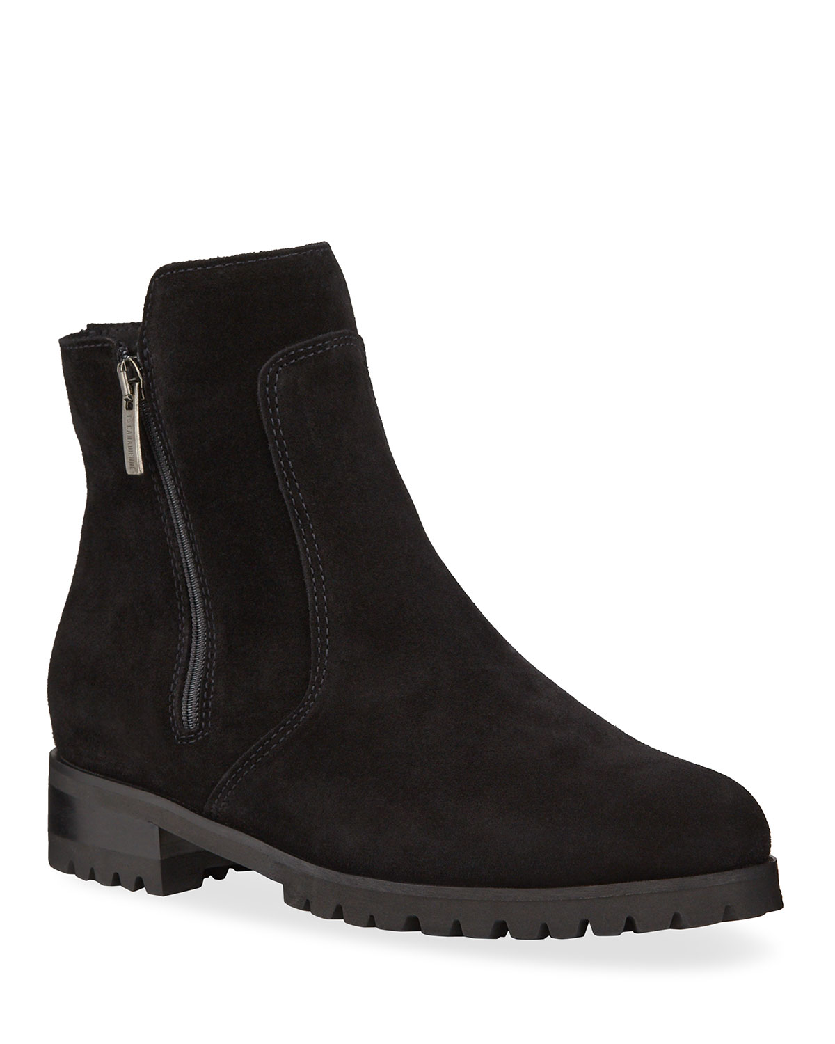 Smith Suede Dual Zip Ankle Booties