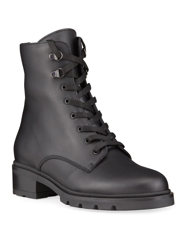 Sabel Matte Leather Combat Waterproof Boots