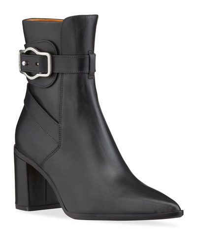 Black Pointed Toe Ankle Boot | Neiman