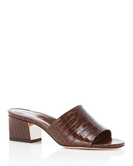 Marion Parke Roxanne Embossed Leather Sandals
