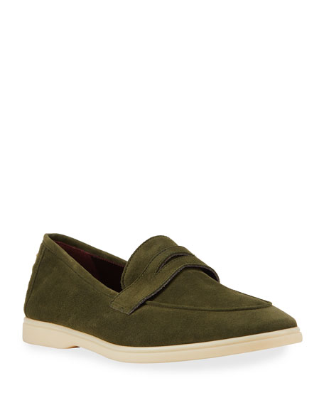Bougeotte Casual Suede Penny Loafers