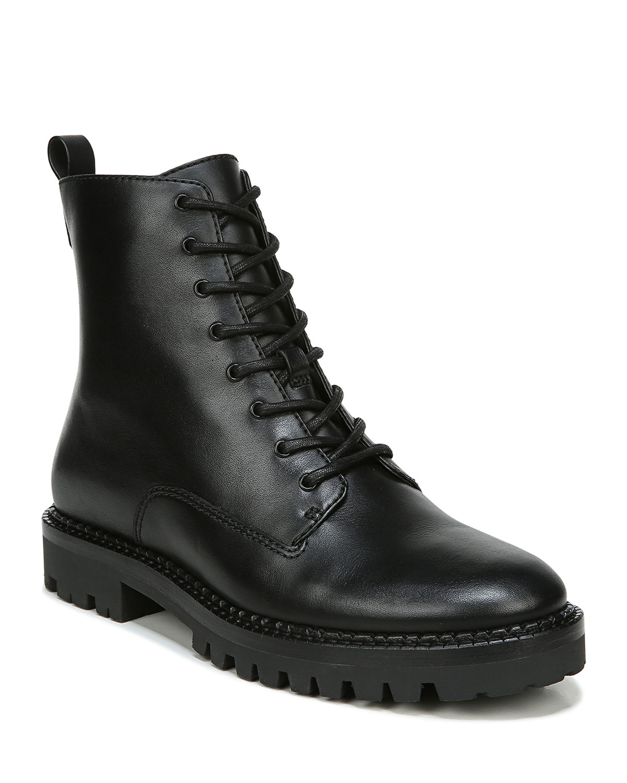 Cabria Lug-Sole Leather Water-Repellant Combat Boots