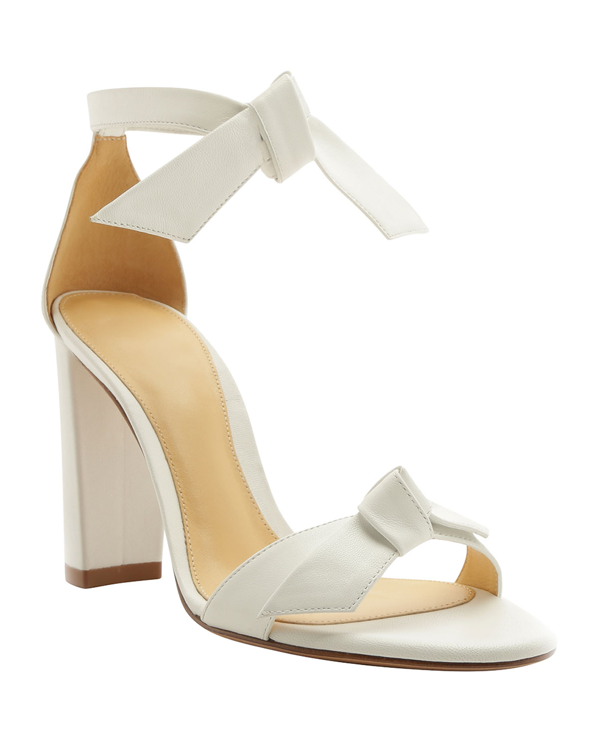 Clarita 90mm Leather Ankle-Tie Sandals