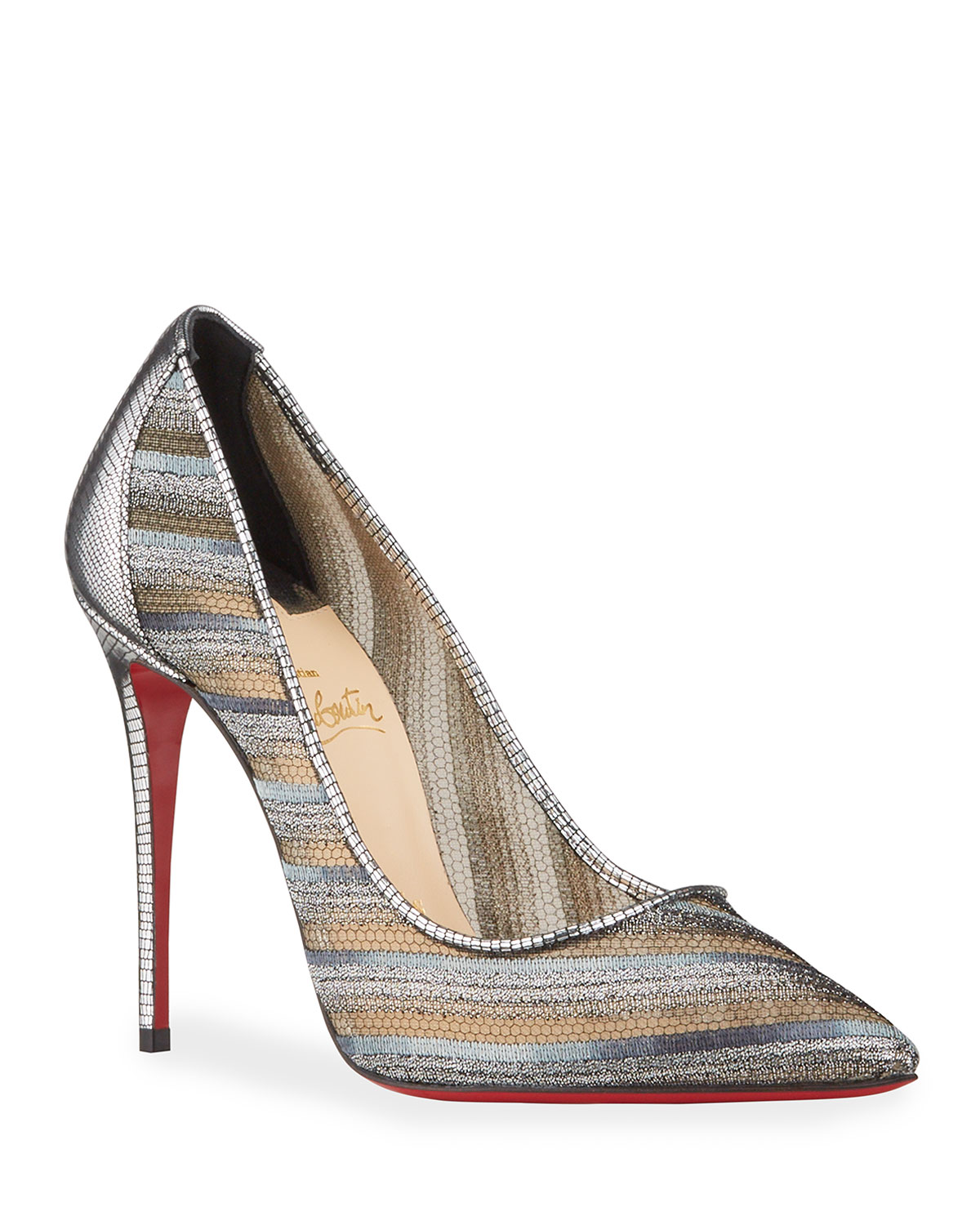 Christian Louboutin FOLLIES METALLIC RED SOLE PUMPS