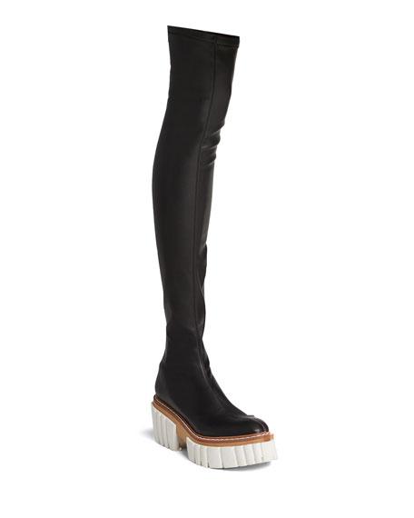 Stella McCartney Emilie Thigh-High Platform Boots