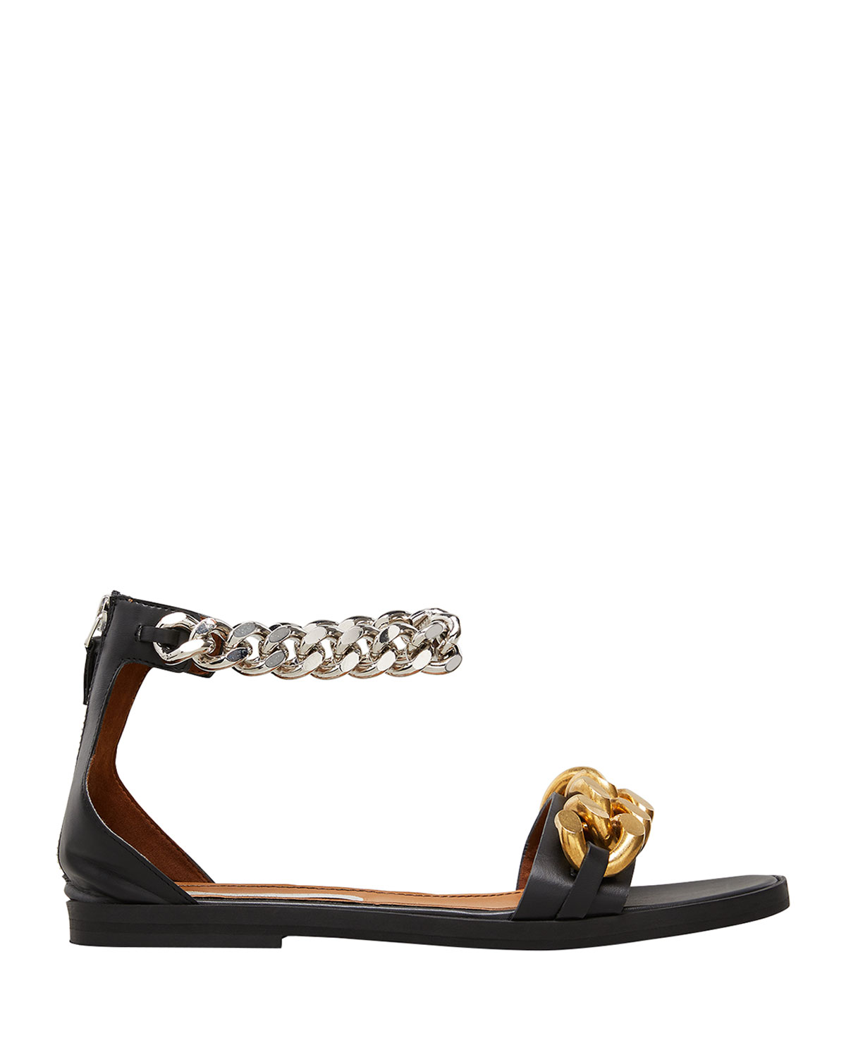 Falabella Ankle-Chain Flat Sandals