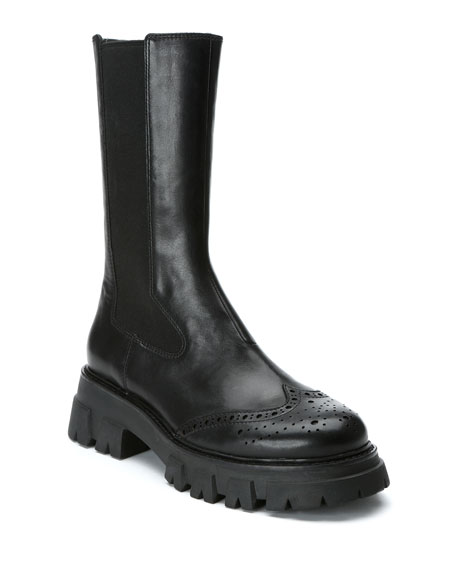 Ash Lennox Tall Leather Combat Boots