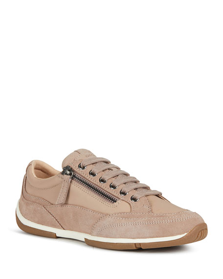 Geox Aglaia 2 Mix Leather Fashion Sneakers