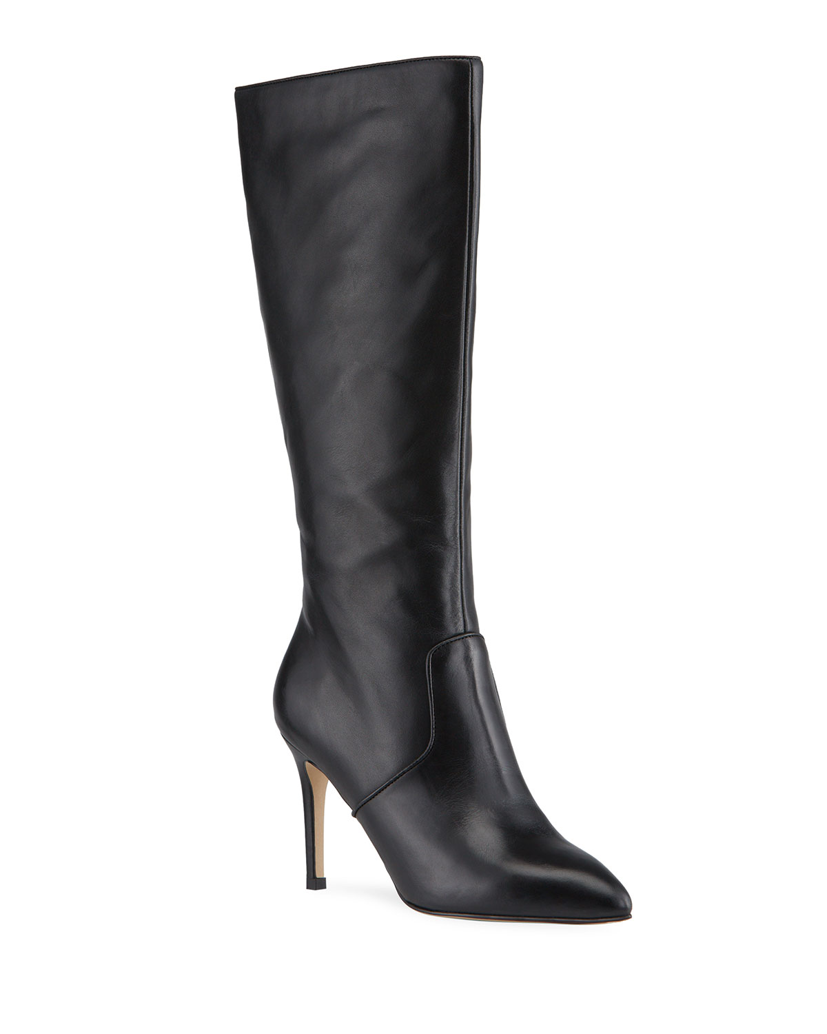 Kelly Leather Stiletto Knee Boots