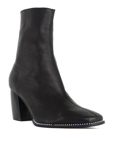 Leather Zip Ankle Boots   Neiman Marcus