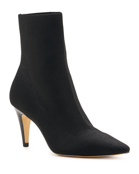 Botkier Felicia Stretch Knit Cone-Heel Booties