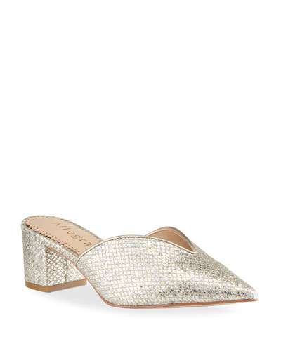 Gold Mule Shoes   Neiman Marcus
