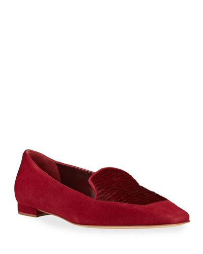 Artura Suede Fur Loafers