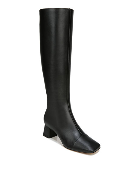 Vince Kellen Leather Zip Knee Boots