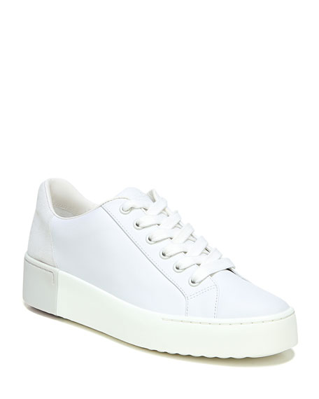 Vince Bensley Mixed Leather Low-Top Sneakers