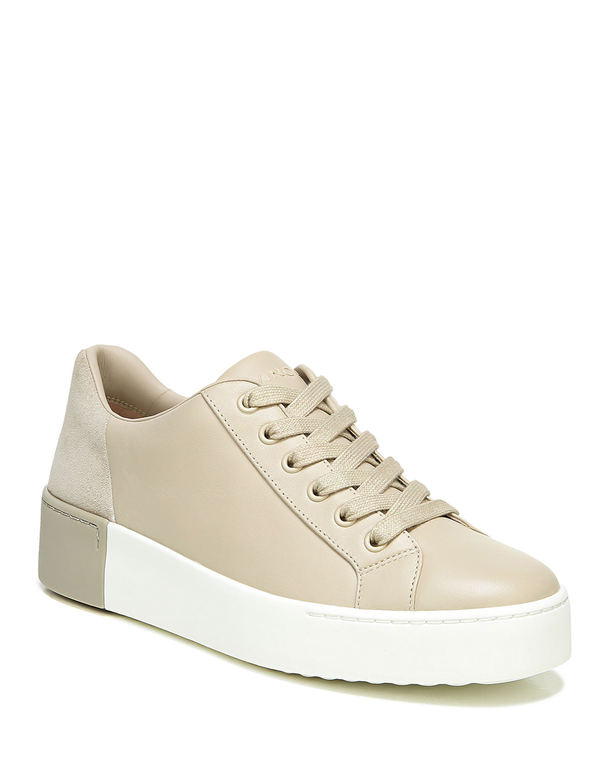 Bensley Mixed Leather Low-Top Sneakers