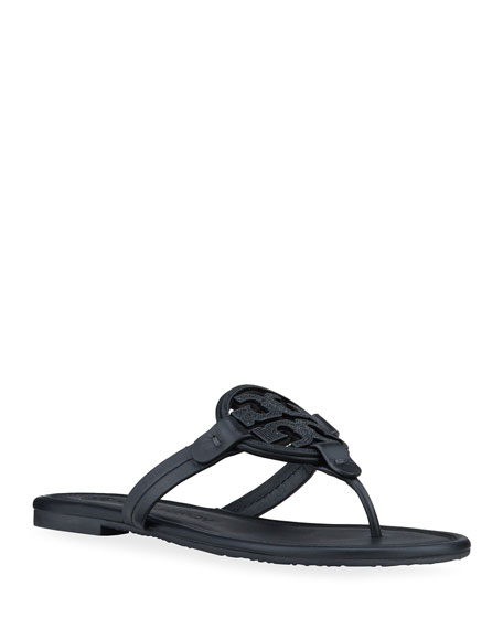 Tory Burch Miller Pave Logo Slide Thong Sandals