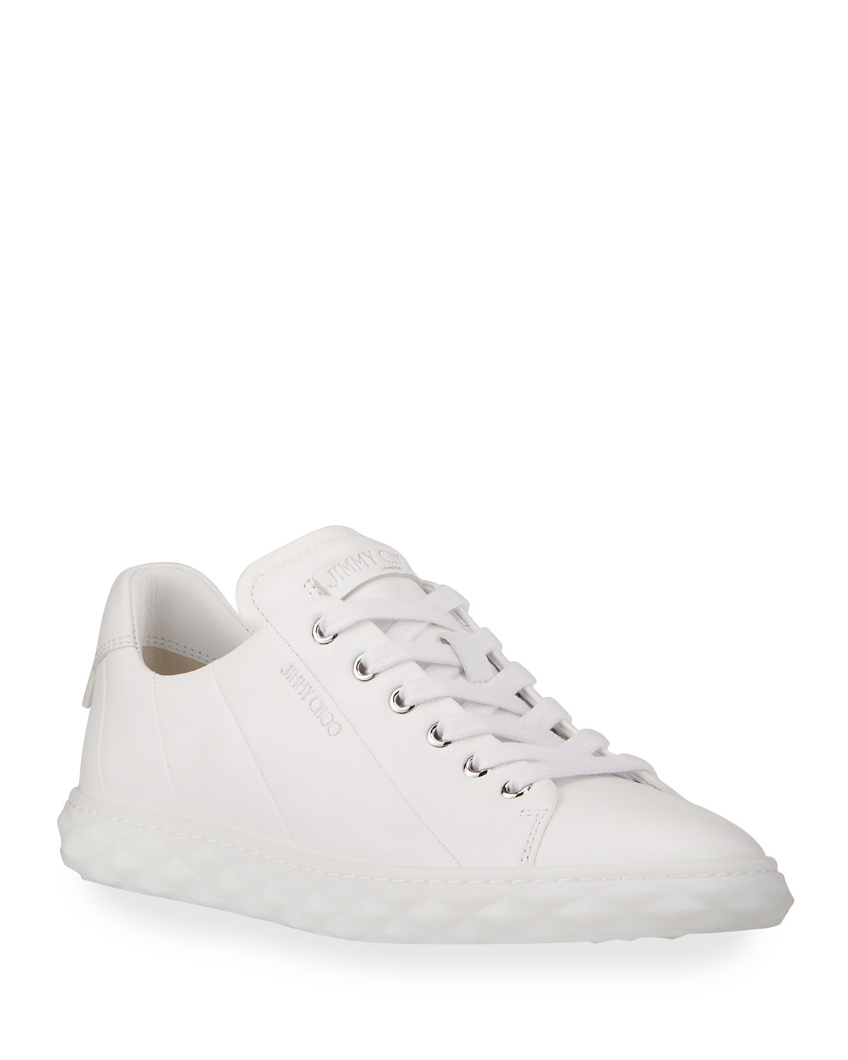 Diamond Low-Top Leather Sneakers