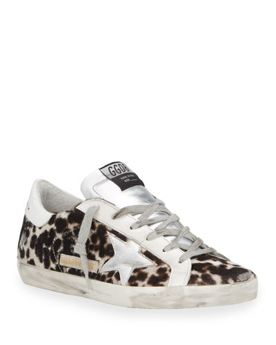 Superstar Leopard-Print Fur Skater Sneakers