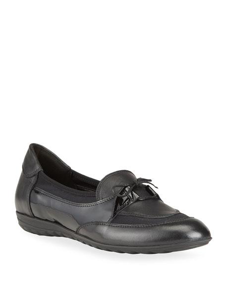 Sesto Meucci Blair Mixed Leather Ballerina Loafers