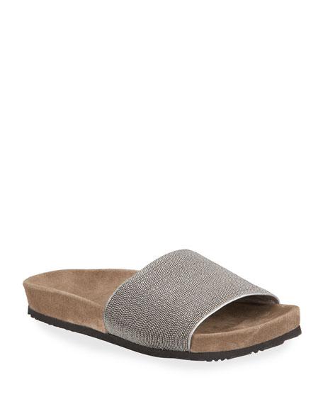 Brunello Cucinelli Monili Pool Slide Sandals
