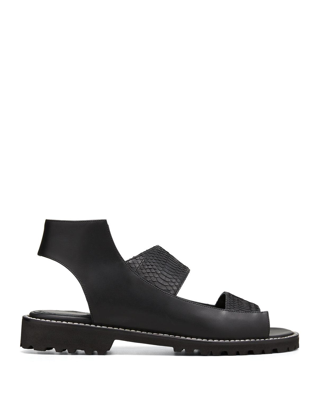 Fialga Snakeskin Sporty Sandals