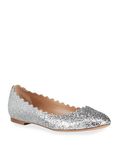 Chloe Lauren Glitter Ballerina Flats