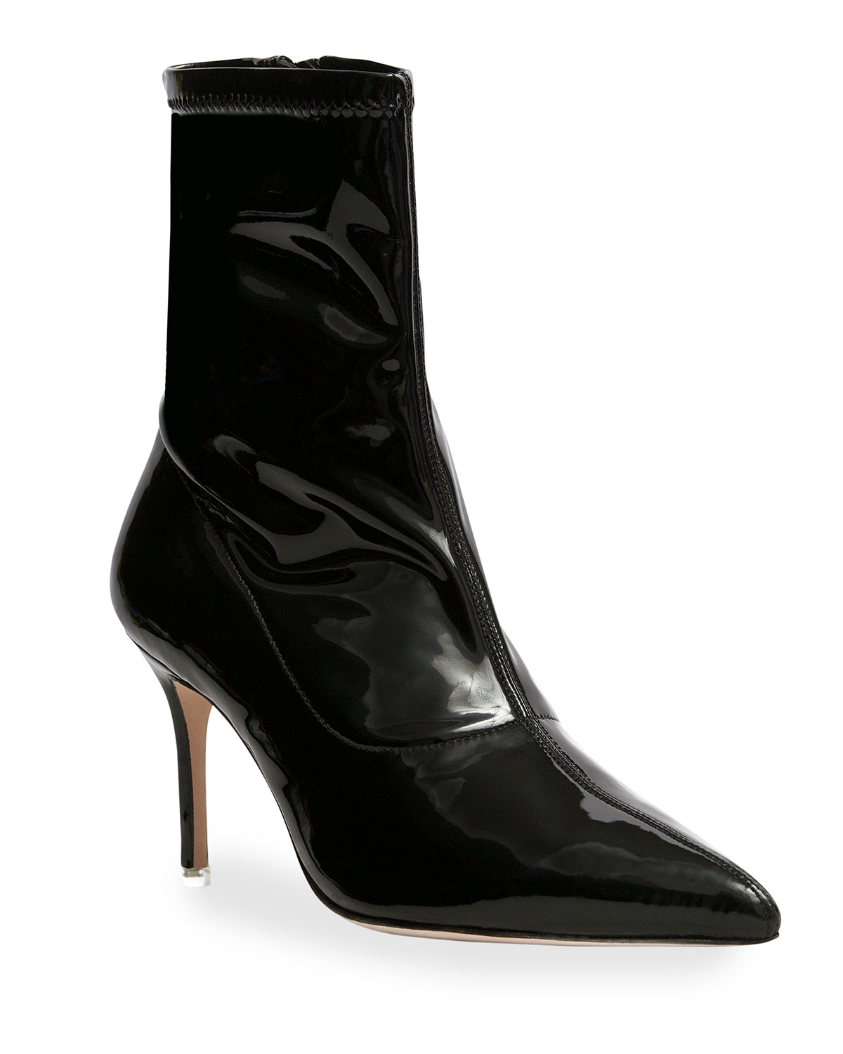 Akiyo Stretch Patent Ankle Booties