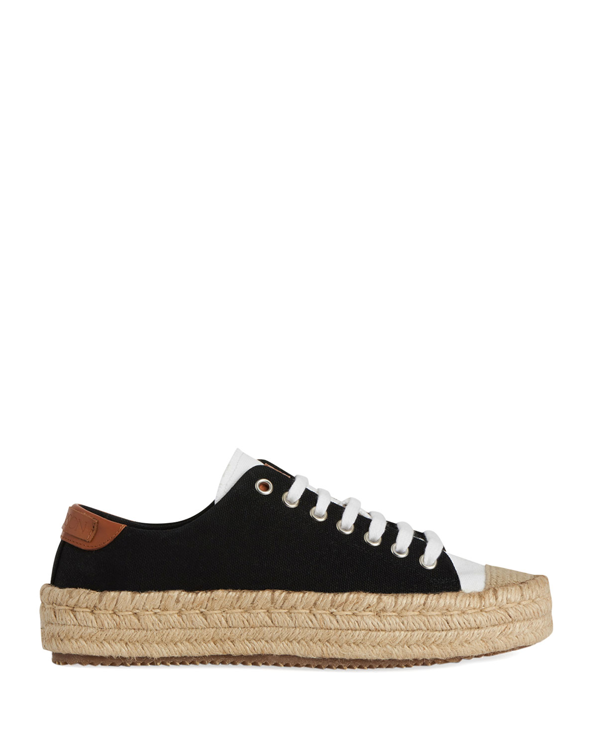Cotton Lace-Up Espadrille Sneakers