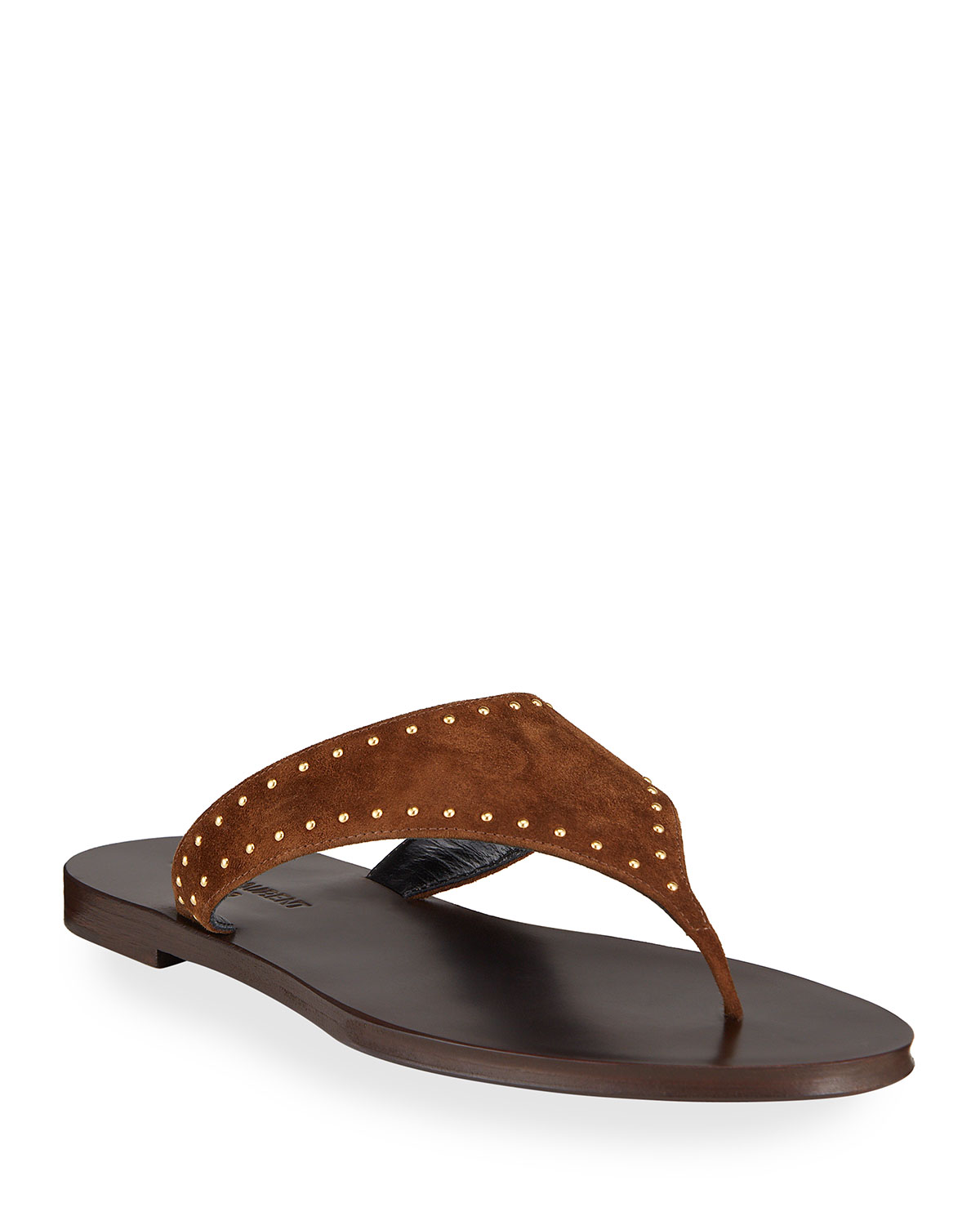 Saint Laurent Suedes GIA STUDDED SUEDE THONG SANDALS