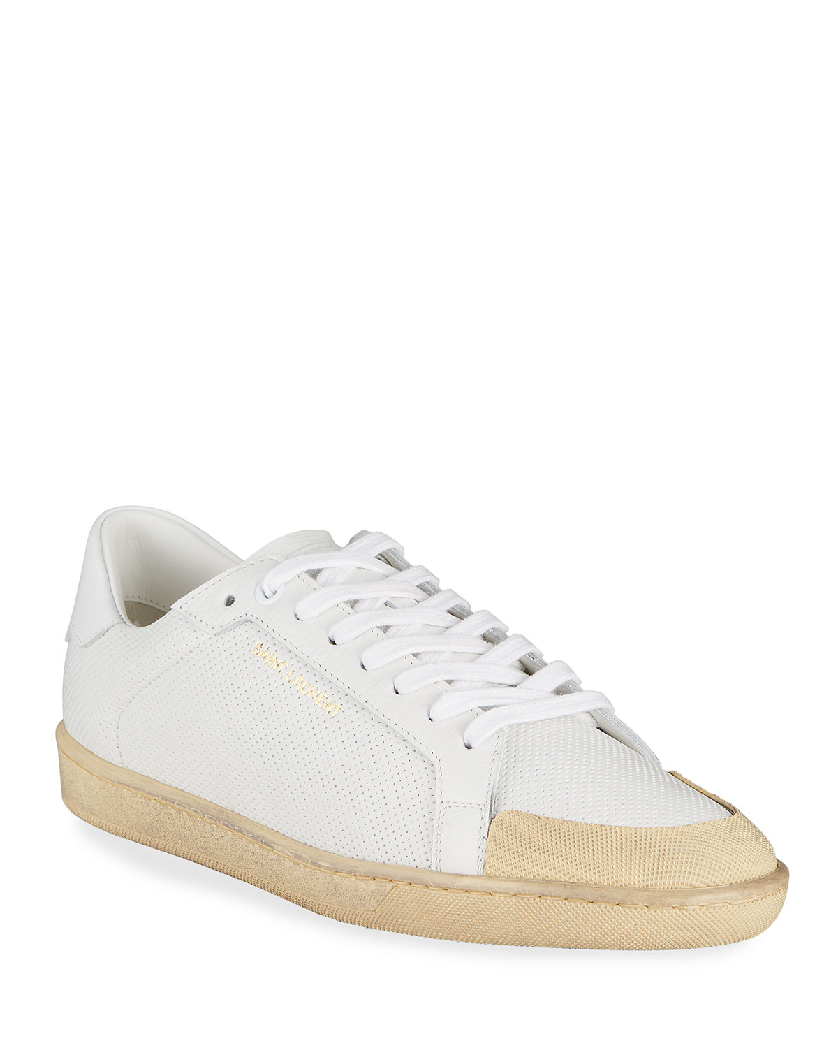 Saint Laurent PERFORATED LOW-TOP SNEAKERS