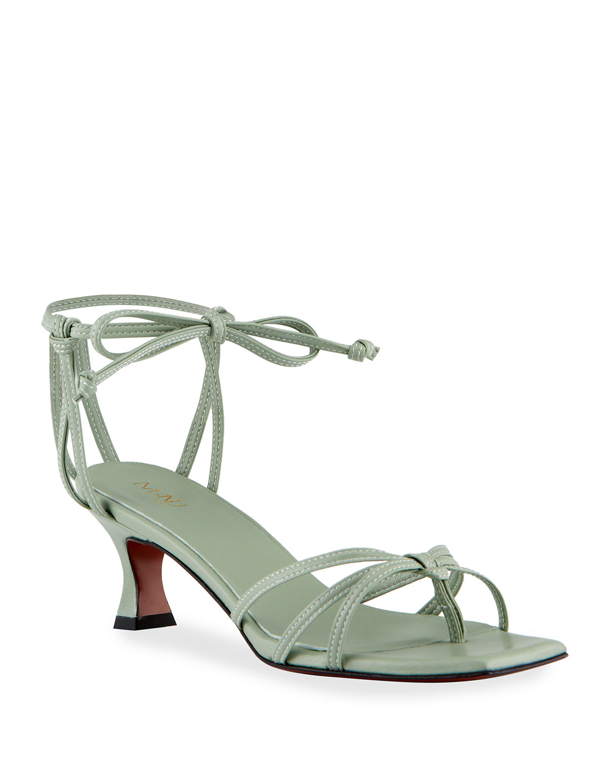 50mm Napa Strappy Ankle-Tie Sandals