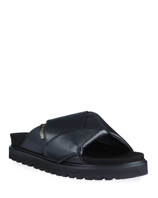 Fantine Woven Flat Slide Sandals