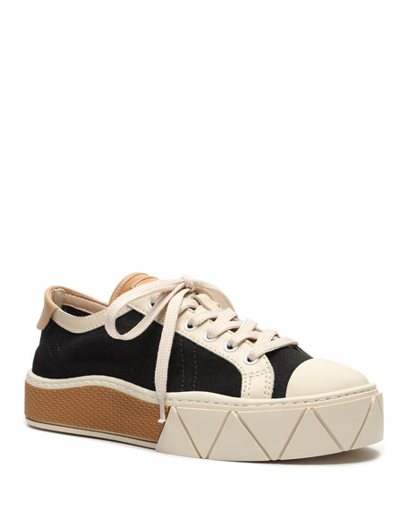 Schutz Gizella Colorblock Low-Top Platform Sneakers