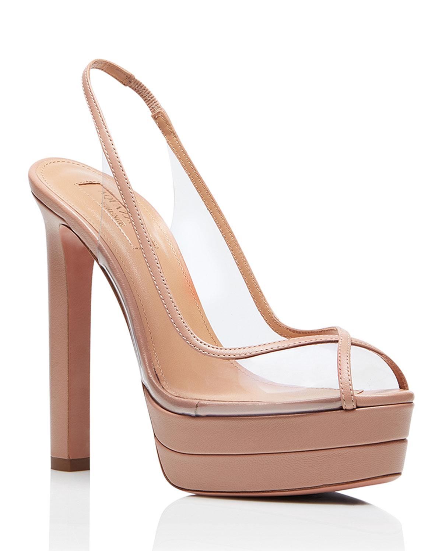 Temptation 130mm Platform Slingback Sandals