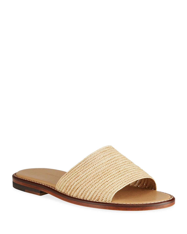 Safina Raffia Slide Sandals
