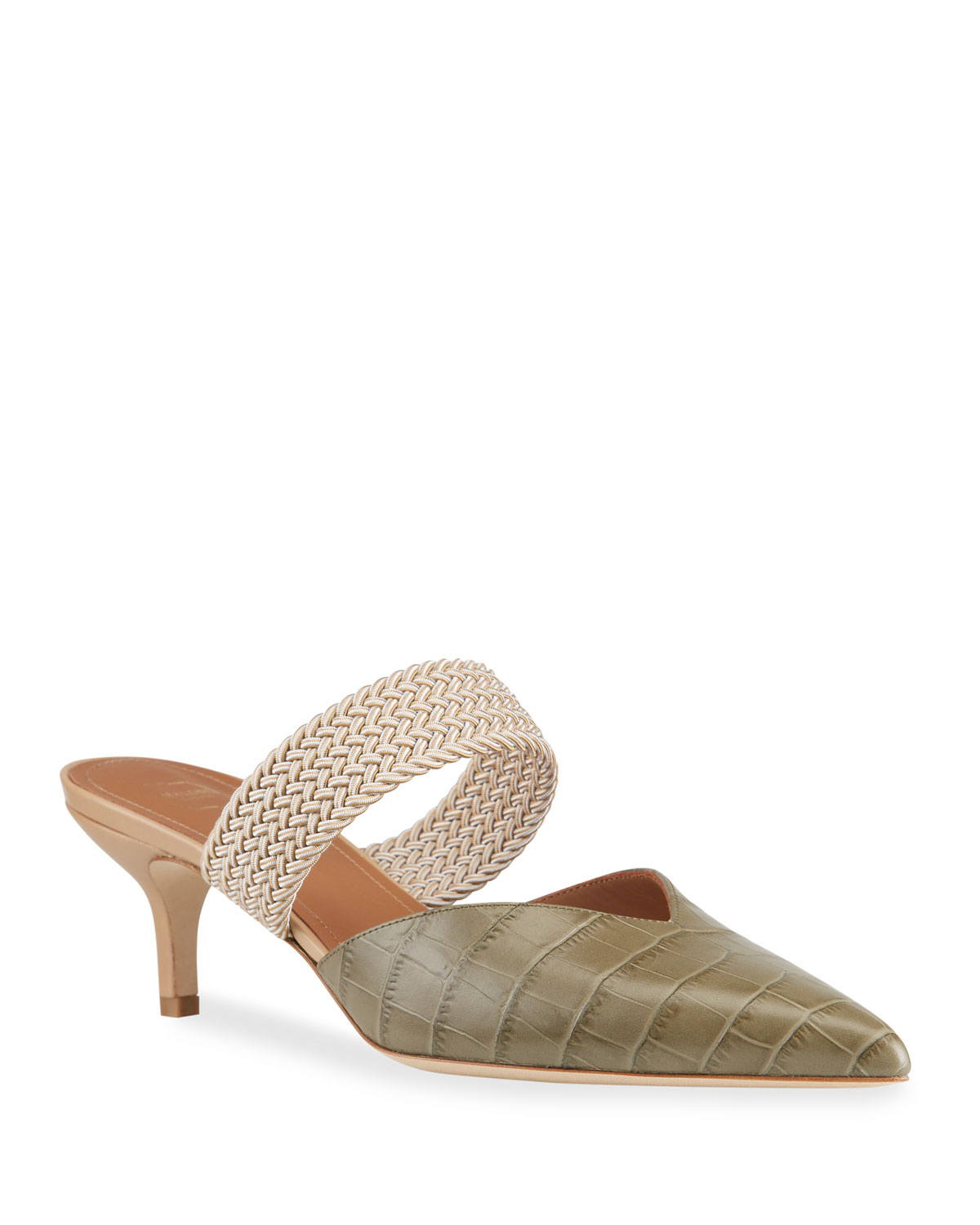 Malone Souliers MAISIE 45MM MOCK CROC MULES