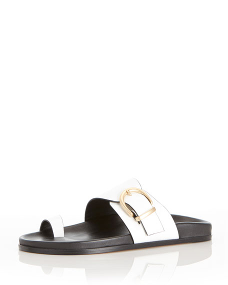 Marion Parke Cyrus Flat Buckle Slide Sandals