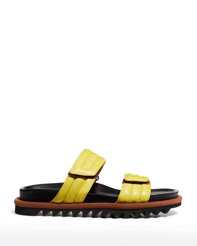 Fussbett Tricolor Quilted Grip-Strap Sandals