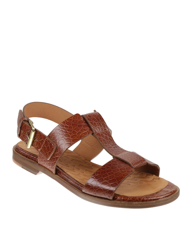 Wasy 38 Mock-Crock Slingback Sandals