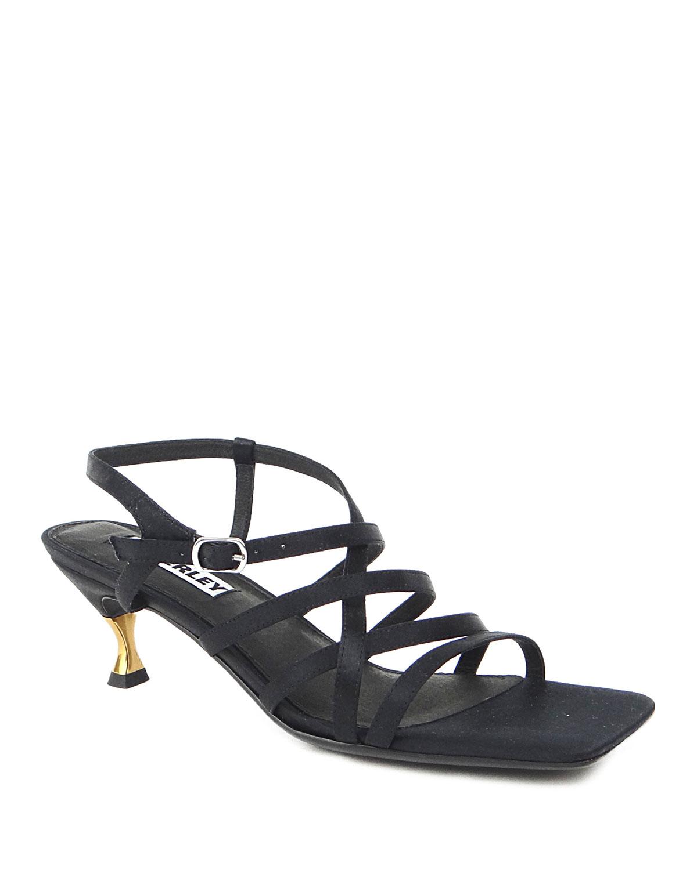 Lani Metallic-Heel Strappy Sandals