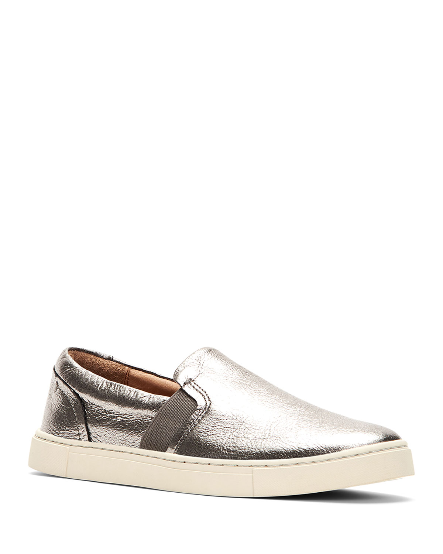 Ivy Metallic Leather Slip-On Sneakers